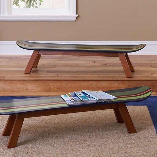 MESITAS CON SKATES. Unas mesas bajas con tus viejas tablas de Skate.